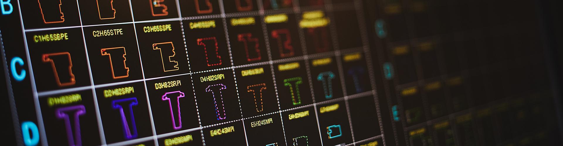 Bilde fra skjerm til avansert maskin